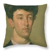 Portrait Of A Youth Throw Pillow