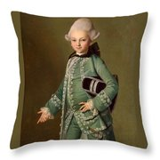 Portrait Of Aleksey Bobrinsky As A Child Throw Pillow