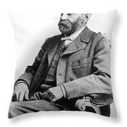 Portrait Of Alfred Nobel Throw Pillow