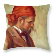 Portrait Of Ambroise Vollard 1868-1939 Oil On Panel Throw Pillow