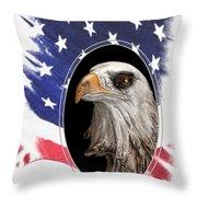 Portrait Of America Throw Pillow by Tom Mc Nemar