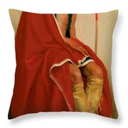 Elk Foot Of The Taos Tribe Throw Pillow