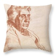 Portrait Of An Old Lady, 1938 Throw Pillow
