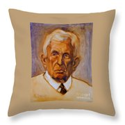Portrait Of An Older Man Throw Pillow