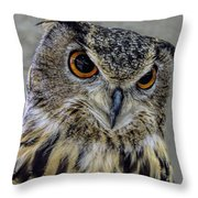 Portrait Of An Owl Throw Pillow