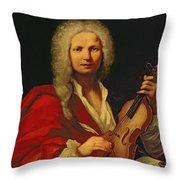 Portrait Of Antonio Vivaldi Throw Pillow