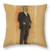 Portrait Of Arcadi Mas I Fondevila Throw Pillow