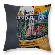 Portrait Of Ayrton Senna Throw Pillow