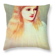 Portrait Of Cecily Horner, 1895 Throw Pillow