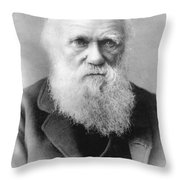 Portrait Of Charles Darwin Throw Pillow