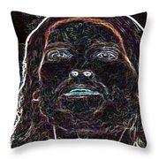 Portrait Of Christ Throw Pillow