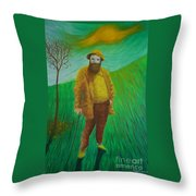 Portrait Of Claude Monet Throw Pillow