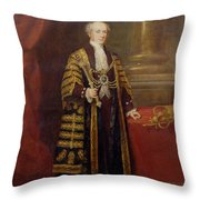 Portrait Of Colonel Sir Samuel Wilson, Lord Mayor Of London, 1838 Oil On Canvas Throw Pillow