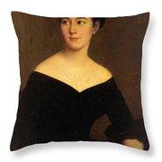Portrait Of Cornelia Knott Miltenberger Throw Pillow