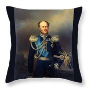 Portrait Of Count Alexander Benkendorff Throw Pillow