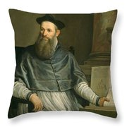 Portrait Of Daniele Barbaro Throw Pillow by Paolo Caliari Veronese