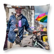 Portrait Of Doctor Luv In New Orleans Throw Pillow