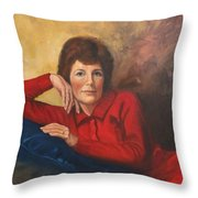 Portrait Of Donna Throw Pillow