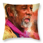 Portrait Of Dr. Luv - Painting Throw Pillow