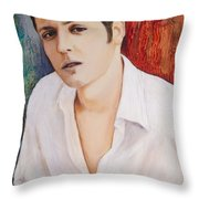 Portrait Of Dustin Roadcap 2014 Throw Pillow