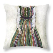Portrait Of Edith Schiele, The Artists Throw Pillow