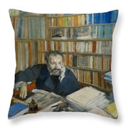 Portrait Of Edmond Duranty, 1879 Throw Pillow