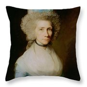 Portrait Of Elizabeth Caldwell Throw Pillow