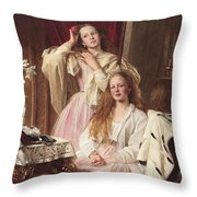 Portrait Of Emma And Frederica Bankes Throw Pillow