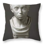 Portrait Of Emmanuel Kant  Throw Pillow by Friedrich Hagemann