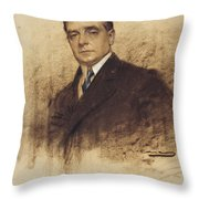 Portrait Of Enric Borras Throw Pillow