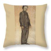 Portrait Of Enric Morera Throw Pillow