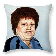 Portrait Of Essie Simon  Throw Pillow