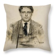 Portrait Of Eugeni D'ors Throw Pillow