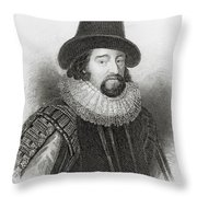 Portrait Of Francis Bacon Throw Pillow