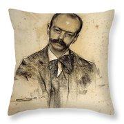 Portrait Of Gabriel Alomar Throw Pillow