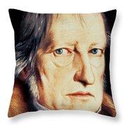 Portrait Of Georg Wilhelm Friedrich Hegel Throw Pillow