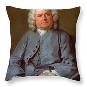 Portrait Of George Arnold Esq. Of Ashby Throw Pillow