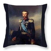 Portrait Of Illarion Vasilyevich Vasilchikov Throw Pillow