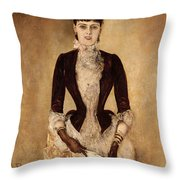 Portrait Of Isabella Reisser Throw Pillow