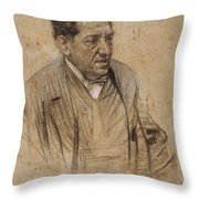 Portrait Of Iscle Soler Throw Pillow