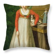 Portrait Of Isidore, 1810 Throw Pillow