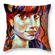 Portrait Of Ivana Throw Pillow