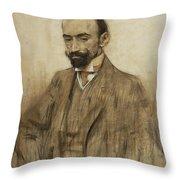 Portrait Of Jacinto Benavente Throw Pillow