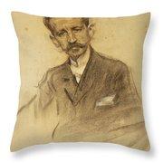 Portrait Of Jacinto Octavio Picon Throw Pillow