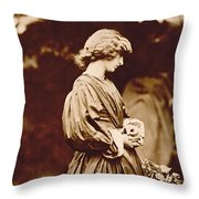 Portrait Of Jane Morris Throw Pillow by John Parsons