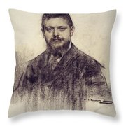 Portrait Of Jaume Carner Throw Pillow