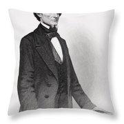 Portrait Of Jefferson Davis Throw Pillow