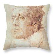 Portrait Of Jmw Turner Throw Pillow by Cornelius Varley