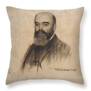 Portrait Of Joan Garriga Throw Pillow