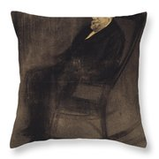 Portrait Of Joan Mane I Flaquer Throw Pillow